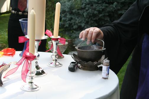 An altar for a wedding