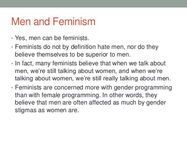men and feminism