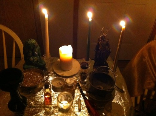 Winter Solstice Altar